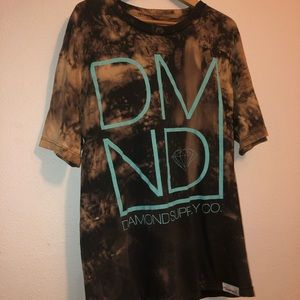Custom bleached tie dye diamond supply co t shirt
